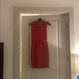 Night cap mini red dress